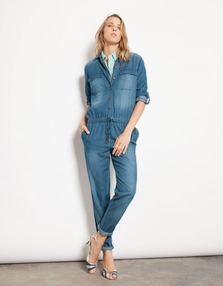 Combinaison en jean Laureen - DENIM BLUE