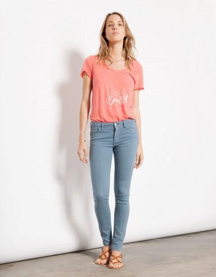 Pantalon skinny couleur Nelly - BLUE JEAN