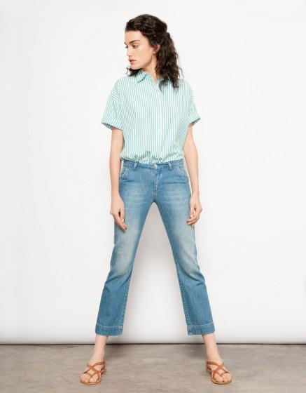 Jean Straight Cropped Payton - DENIM BLUE