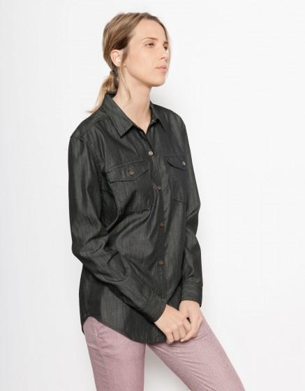Jean Shirt Coly - BLACK DENIM