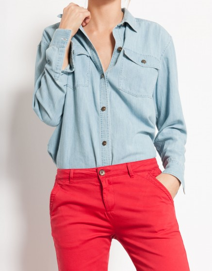 Chemise en jean Coly - LIGHT BLUE