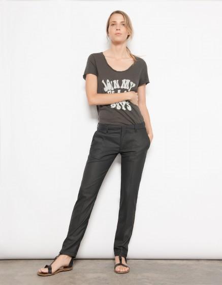 Cigarette Trousers Lizzy - FANCY BLACK