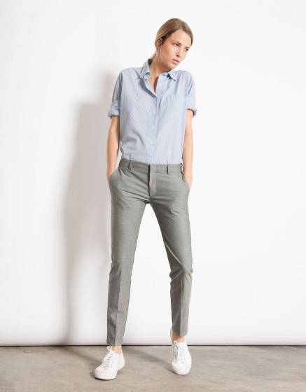 Pantalon cigarette Lizzy - PLAIN GREY