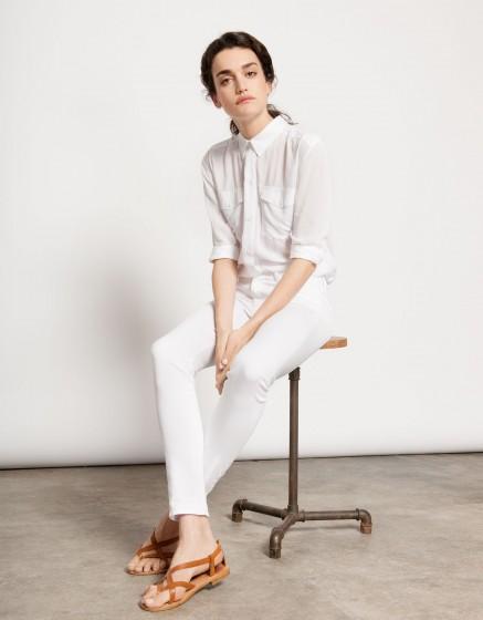 Pantalon skinny couleur Nelly - WHITE