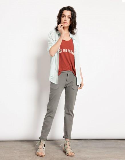 Street trousers Sandrine - BETON