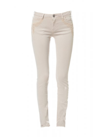 Tawana embroidered skinny Trousers - grege