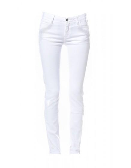Pantalon skinny brodé Tawana - WHITE