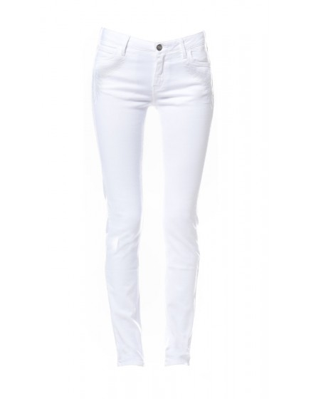 Tawana embroidered skinny Trousers - white