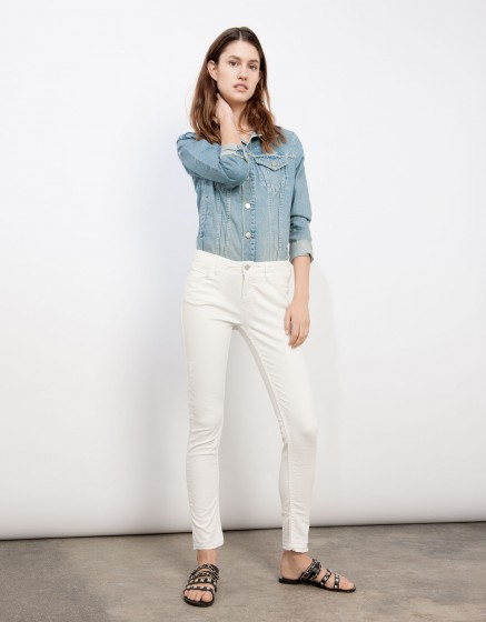 Cropped skinny trousers Lily - ANTIC WHITE