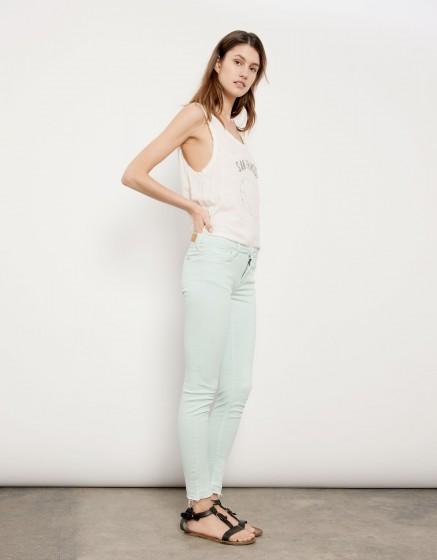 Pantalon skinny cropped Lily - BLEU PASTEL