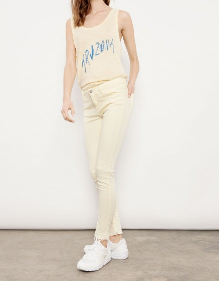 Cropped skinny trousers Lily - JAUNE PASTEL