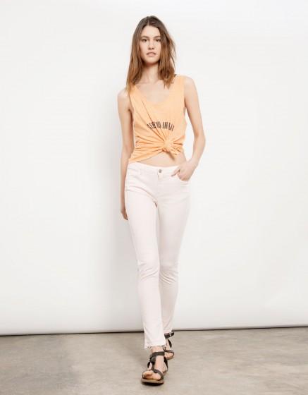 Pantalon skinny cropped Lily - ROSE PASTEL