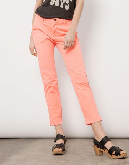 Pantalon chino Pam - CORAIL NEON