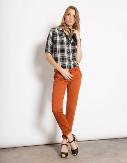 Pantalon chino SANDY - PECAN