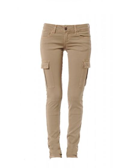 Pantalon slim army Shanna - KAKI BRONZE PAT