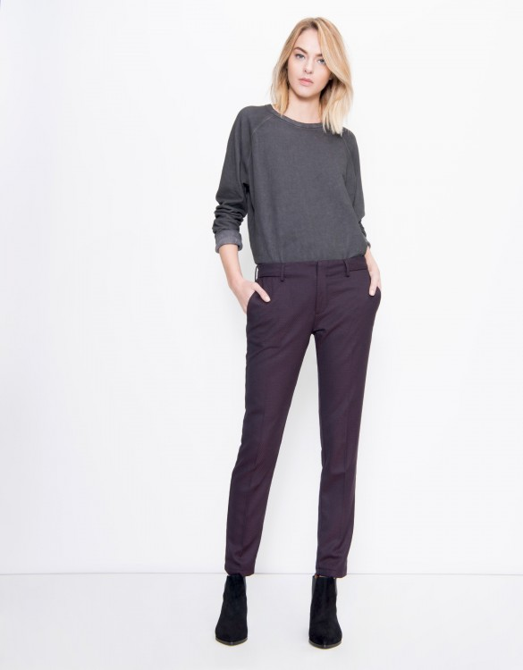 Cigarette Trousers Lizzy Fancy - SQUARE CARMIN