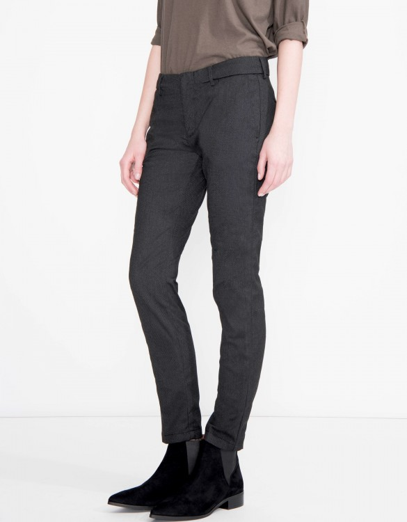 Cigarette Trousers Lizzy Fancy - SHADOW