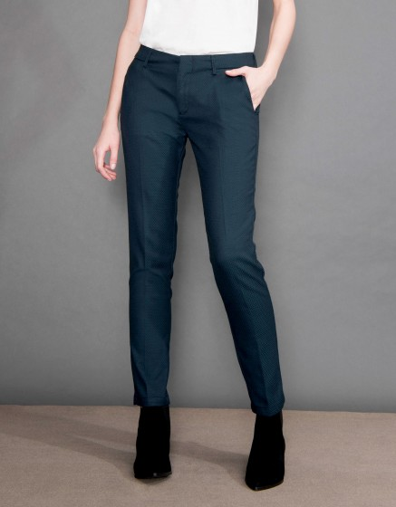 Pantalon cigarette Lizzy Fancy - SQUARE GREEN