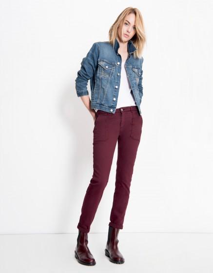 Street trousers Sandrine - BORDEAUX FONCE
