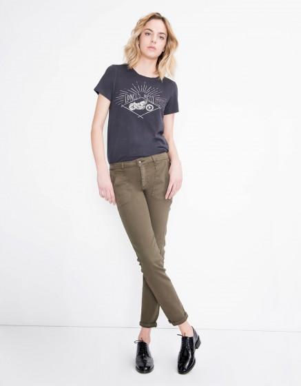 Street trousers Sandrine - VINTAGE KAKI