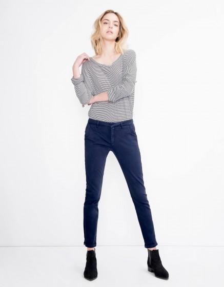 Pantalon chino Sandy Basic - DARK NAVY