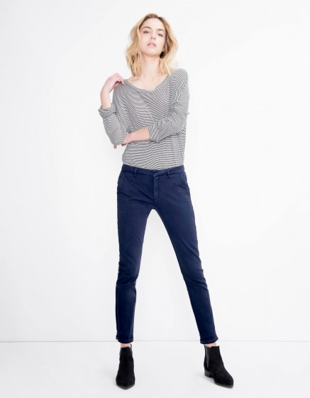Pantalon chino Sandy Basic - DARK NAVY