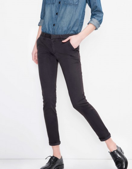 Pantalon chino Sandy Basic - CARBONE