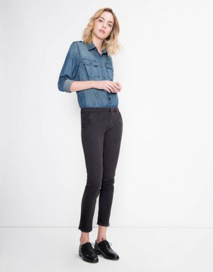 Pantalon chino Sandy Basic - CARBONE