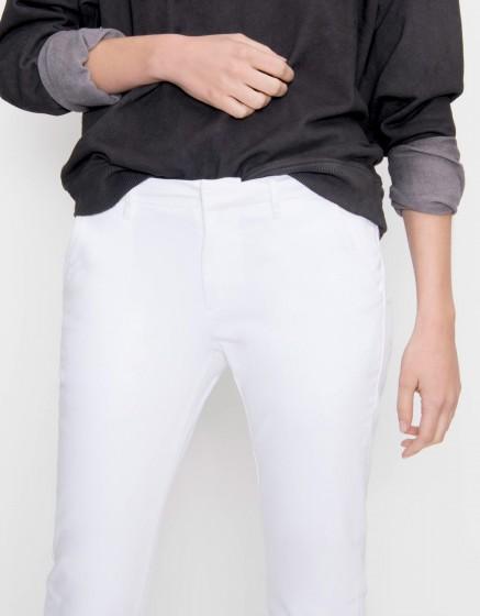 Pantalon chino Sandy Basic - WHITE