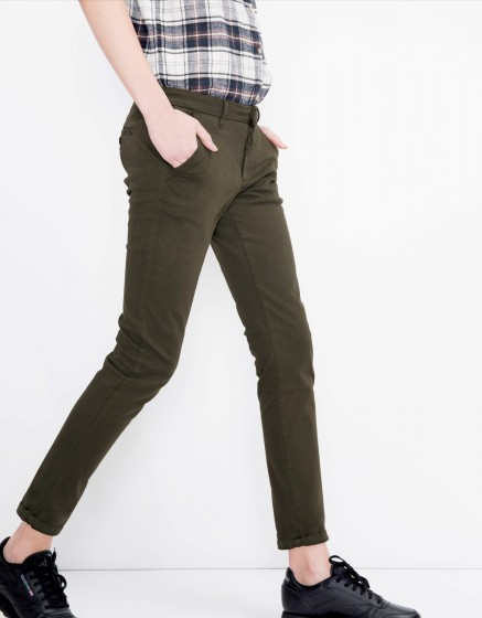 Pantalon chino Sandy Basic - DARK KAKI