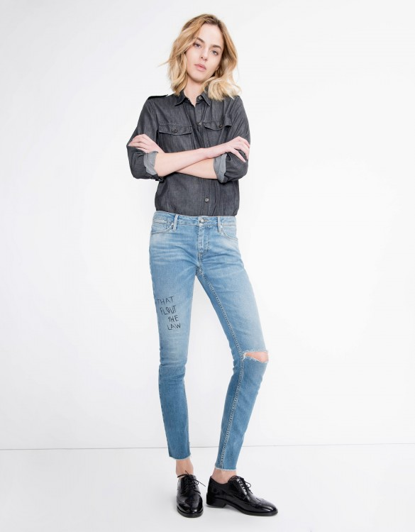 Skinny jean Nelly - DENIM PRINT
