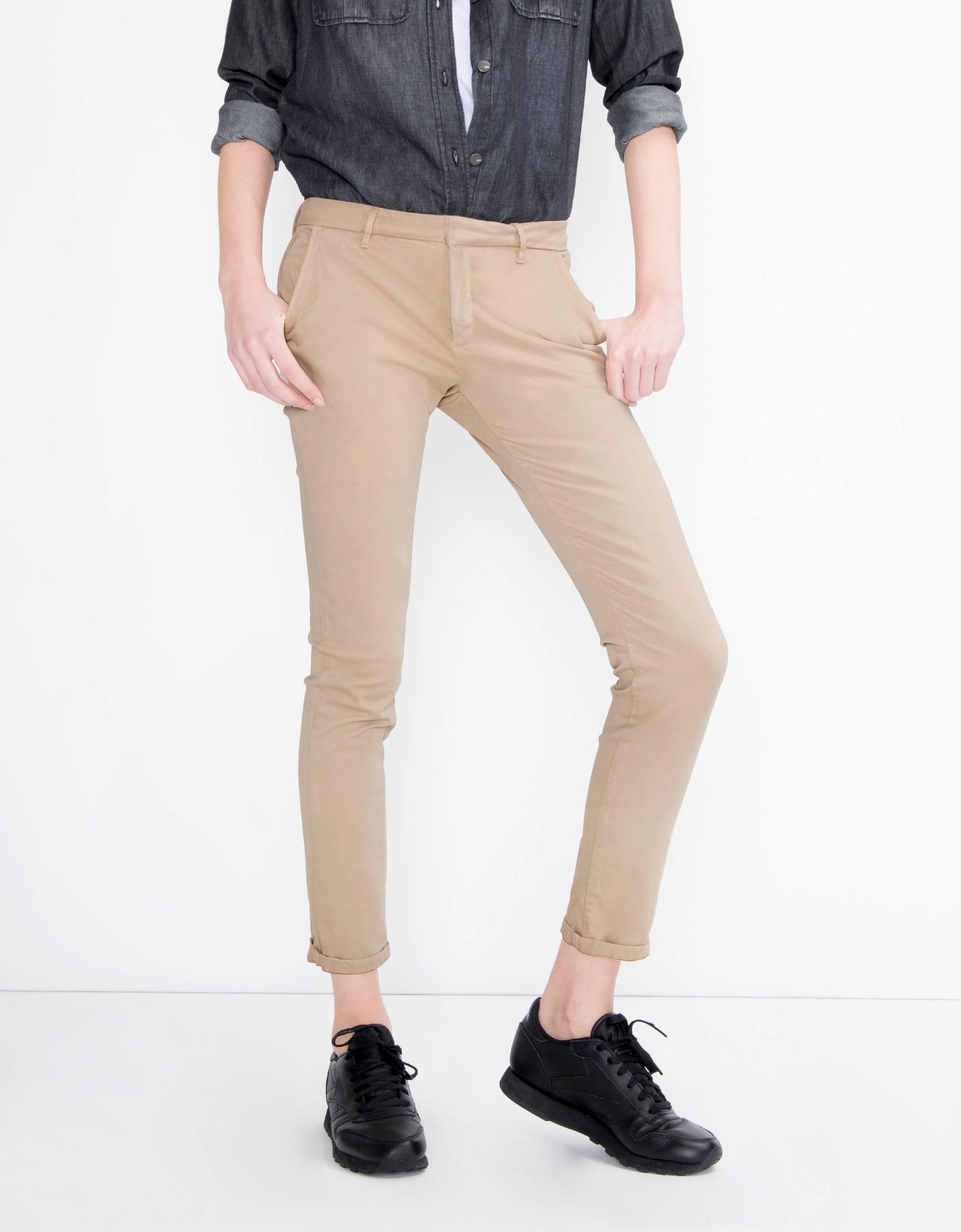 pantalon chino pour femme sandy basic beige reiko. Black Bedroom Furniture Sets. Home Design Ideas