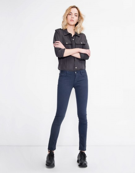 Colored skinny trousers Nelly - NAVY