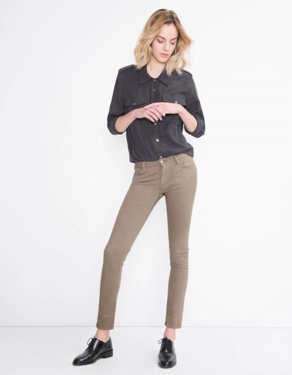 Pantalon skinny coloré Nelly - TAUPE