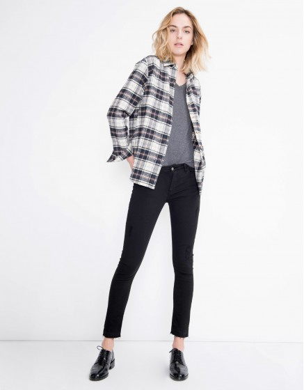 Colored skinny cropped trousers Lily - BLACK