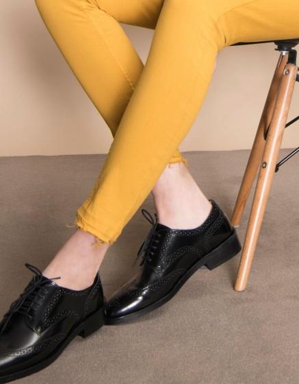 Pantalon coloré skinny cropped Lily - CUMIN