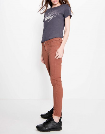 Pantalon skinny cropped Daytona Color - SEQUOIA