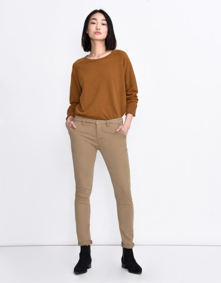 Pantalon chino Sandy Basic - ANTILOPE