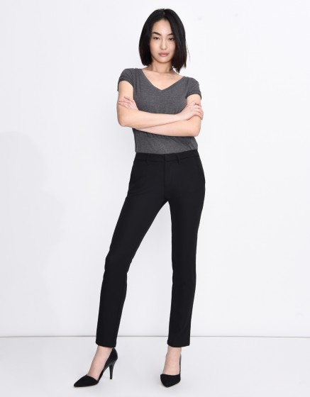 Pantalon chino Sandy Fluide - BLACK
