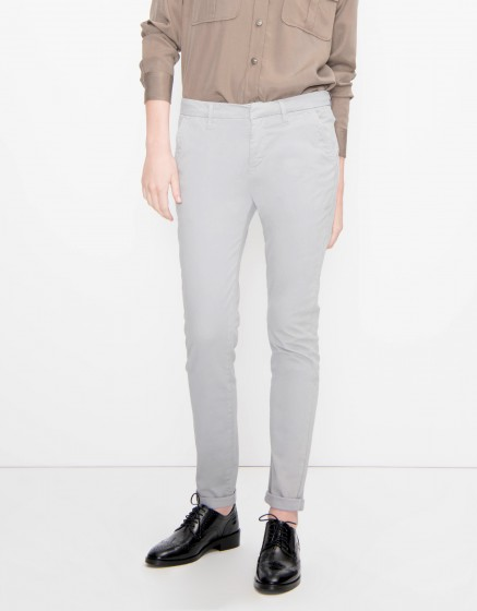 Chino Trousers Sandy Basic - GRIS SOURIS