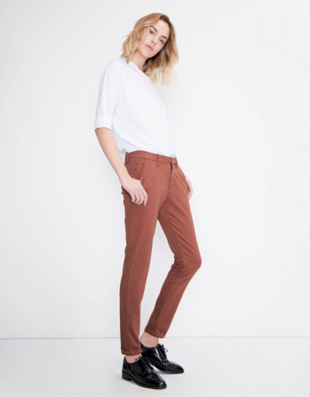 Chino Trousers Sandy Basic - SEQUOIA