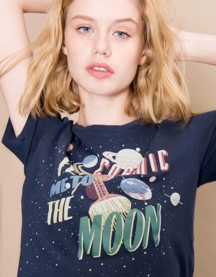 T-shirt Ulysse Print - NAVY