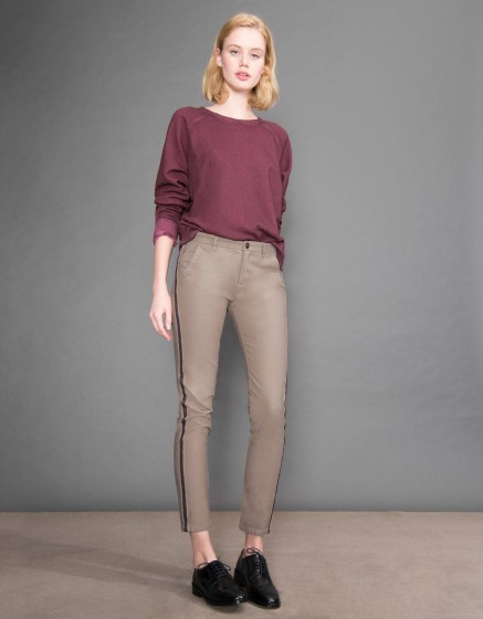 Chino Trousers Sandy Herring - TAUPE