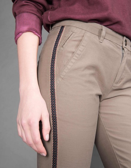 Chino Trousers Sandy Herring - TAUPE