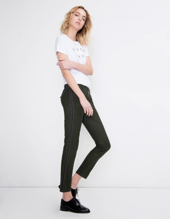 Pantalon chino Sandy Herring - VERT BOUTEILLE