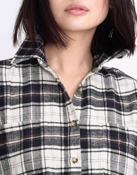 Chemise à carreaux Cassidy - ANTIC WHITE
