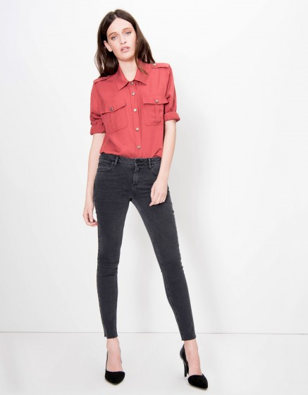 Jean skinny cropped Lily - DENIM BL-10