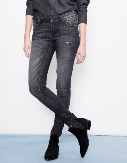 Skinny jean Nelly - DENIM STUDS