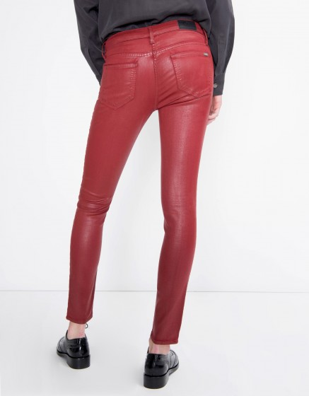 Pantalon skinny enduction Nelly - CARMIN