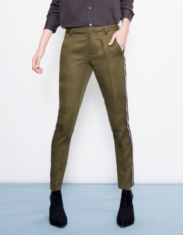 Cigarette Trousers Lizzy Herring - KAKI